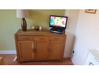 Solid oak sideboard from BHS cost £400 new Buyer to collect from wallyford £120