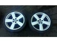 "18"" audi rs6 alloys 5 x 100 vw golf bora seat skoda"