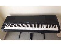 Yamaha P200 Digital piano. Full range 88-key weighted action graded hammer effect keyboard.