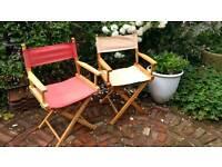 Directors chairs x 2