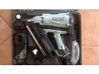 hitachi 2nd fix nail gun. hitachi nr90gc2 1st fix gas clipped head strip framing nailer fires 50-90mm nail gun 2nd r