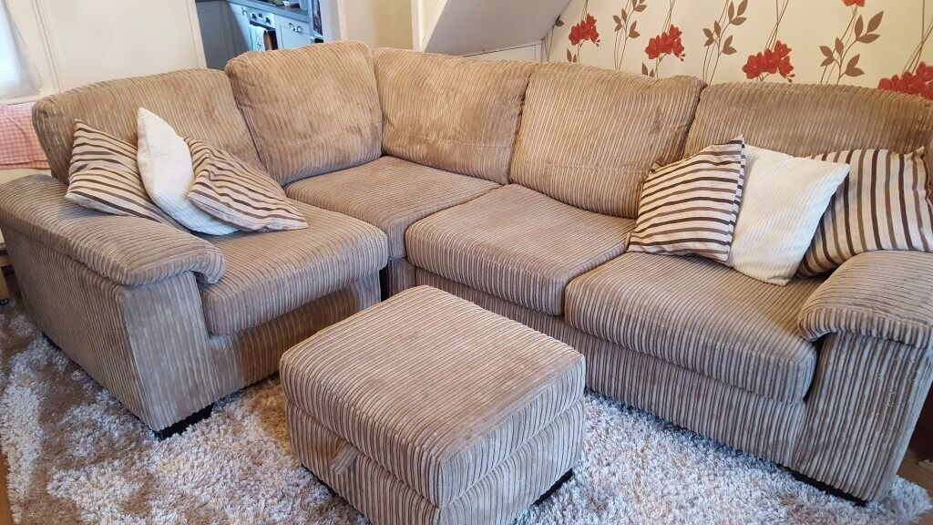 4 seater sofa double bed and foot stool 250 in dartford for Cheap 4 foot divan beds
