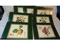 Set of 7 Hooker Fruits Table Mats by Pimpernel