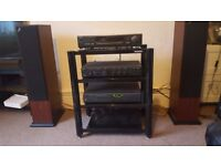 Arcam CD player, Amp, Speakers and stand