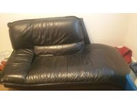 SOFA RELAX CHAIR BLACK LEATHER