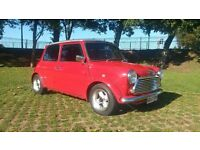 Classic Rover Mini 998cc, 62,000 miles, Flame Red with Silver roof. Lots of History & Reciepts.