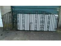 Pair of Iron Driveway Gates