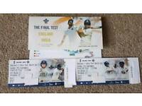 England vs India 5th Test Day 3 at the Oval Sunday 9/9/18 FRONT ROW!!
