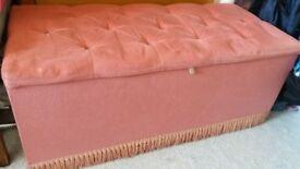 Large pink blanket box storage