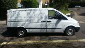 MERCEDES VITO 109 CDI 2.1L LONG WHEEL BASE, 197K MILES, GOOD CONDITION, WHITE, MOT READY TO WORK