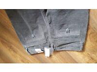 Ladies grey soft cord jeans
