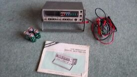 micronta auto range digital multimeter 22-195 battery powered with user manual and probes