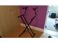 QuikLok QLX22 double-braced keyboard stand with fully adjustable 2nd tier
