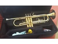 Jupiter trumpet JT-408. Excellent condition, no scratches or dents. Full working order with case.