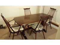 Ercol Dining Table & 4 Chairs