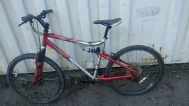 APOLLO FS26 MOUNTAIN BICYCLE DUAL SUSPENSION DISC BRAKE 24 SPEED 26 INCH WHEEL AVAILABLE FOR SALE