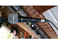 Shure C606 Microphone, Long Lead & Stand