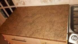 Kitchen Worktops - Moray Brown. Laminate. Gloss finish. Bull nose (rounded) edge