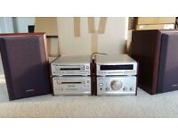Technics Mini Hi-Fi (Walnut Effect) Separates,Excellent Condition With Remote