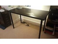 Ikea TABLE BROWN-BLACK almost NEW