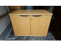 Small heavy office cupboard with key £ 20