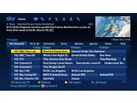 SKY+ BOX WITH 12 MONTHS SUBSCRIPTION TO ALL SKY CHANNELS PLUS BT SPORT