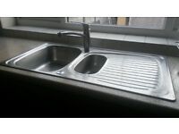 Slightly used but in Mint condition stainless steel sink with tap