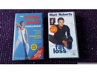 Two exercise VHS video tapes - Matt Roberts and Dynaband