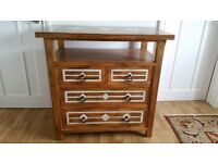 3 Solid Wood Chest of Drawers with Marble Inlay