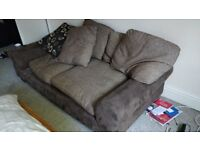 Brown three seater sofa for free or best offer