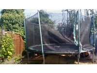 12 ft Plum Trampoline with netting enclosure