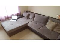 CORNER SOFA BED -FABRIC- IMMACULATE CONDITION-----NEED TO BE GONE BY FRIDAY!!!