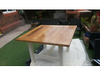 Hand Made Reburbished solid Oak table top Table
