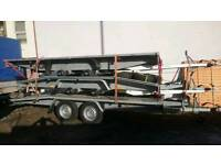 Car or van transporter trailer 4.5m(14.8FT) x 2.1m(7FT) 2700kg - ALUMINUM TRAPS