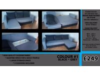 CORNER SOFA BED - LEFT and RIGHT - BRAND NEW - cheap delivery - 4 colours
