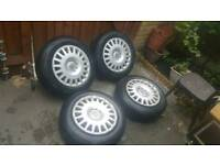 "5x110 Steel (Alloys) Wheels + Almost New Tyres 16"" 195/65/15 Fit Vauxhall Astra Corsa VXR Zafira"