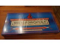 make your own opoly - monopoly board game - brand new