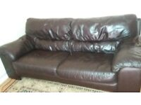 Genuine Leather 3 Seater sofa £50