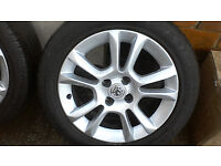 """Vauxhall Corsa D 16"""" alloys in excellent condition with almost brand new tyres!!!"""