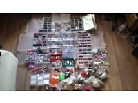 DIY Jewellery Massive stock of beads connectors charms over 15.000 pieces gift boxes bags bundle