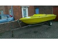 Speedboat and trailer (project)