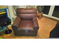 DFS 3 piece chocolate suite in excellent condition.