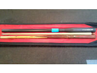 Barracuda Ash Snooker Cue - Supurb Condition with case and extension