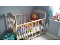BABY FURNITURE SET (cot + changing unit + mattress)