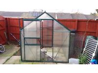 6'x6' Greenhouse Plastic pains