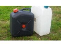 waste water and drinking water containers