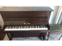 Beautiful 'Osbert' Upright Console Piano & Stool - CAN DELIVER