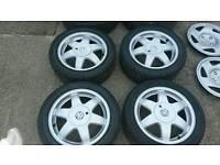 "Astra sri vxr sport corsa cavalier 4x100 alloys new tyres cesaros 15"""