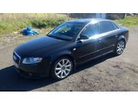 audi a4 tdi turbo diesel s line 2005 55 plate metallic black alloys rs