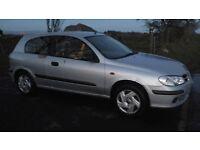Nissan almera 2002, mot aug, 3 door, 1.5 petrol, very low miles